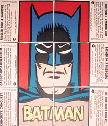 1966 Blue Bat Batman Puzzle Back