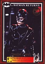 Batman Return Gold Card Catwoman