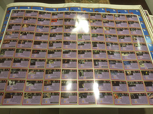 Dynamic Marketing Uncut Sheet Batman Returns Back