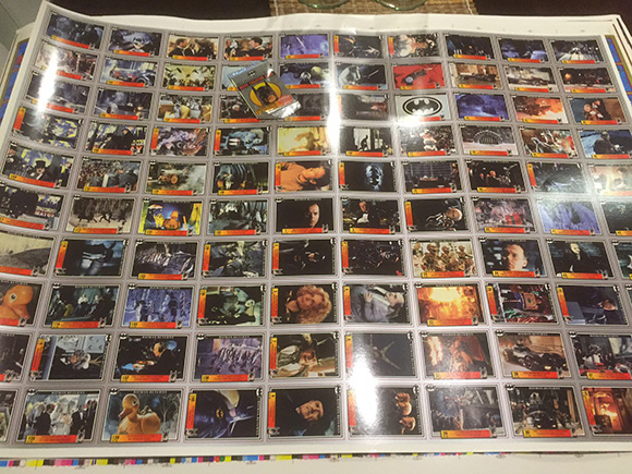 Dynamic Marketing Uncut Sheet Batman Returns