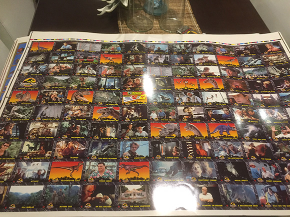 Dynamic Marketing Uncut Sheet Jurassic Park